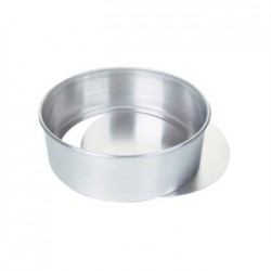 Aluminium Cake Tin With Removable Base 23cm