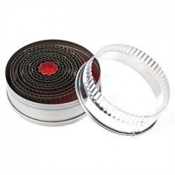 Vogue Round Fluted Pastry Cutter Set
