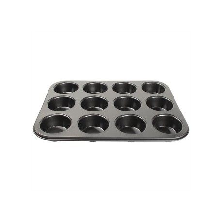 Vogue Carbon Steel Non-Stick Muffin Tray 12 Cup