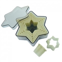 De Buyer Plain Star Pastry Cutters Set of 7