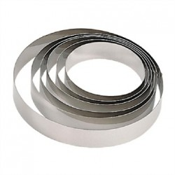 De Buyer Stainless Steel Mousse Ring 180 x 45mm