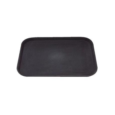 Kristallon Plastic Non Slip Tray Black 14 x 18 in