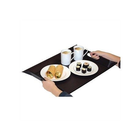 Freeform Foldable Tray Grey and Black Large