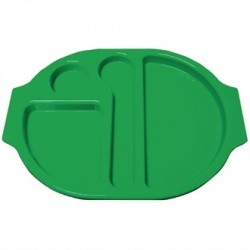 Kristallon Plastic Food Compartment Tray Small Green