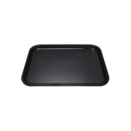 Kristallon Plastic Tray Small Black