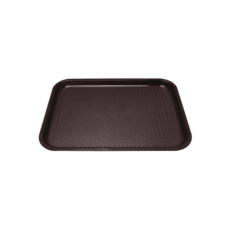 Kristallon Plastic Tray Small Brown
