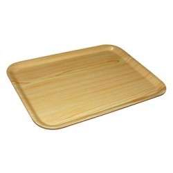 Olympia Rectangular Wooden Birch Tray 17.75 x 9.5 in