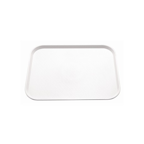 Kristallon Plastic Foodservice Tray Large in White
