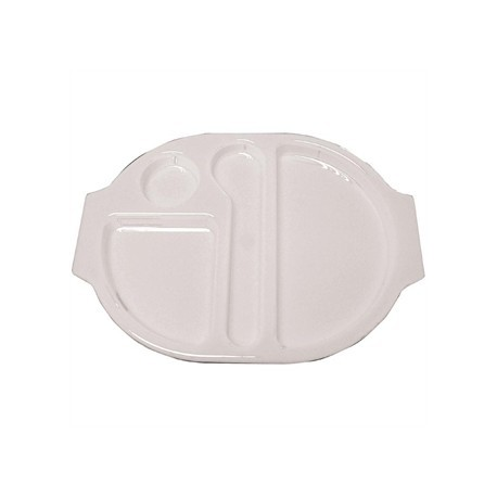 Kristallon Plastic Food Compartment Tray Large White