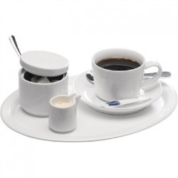 APS Melamine Serving Tray White 10in
