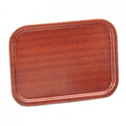 Olympia Mahogany Veneer Wooden Tray 17 x 13 in