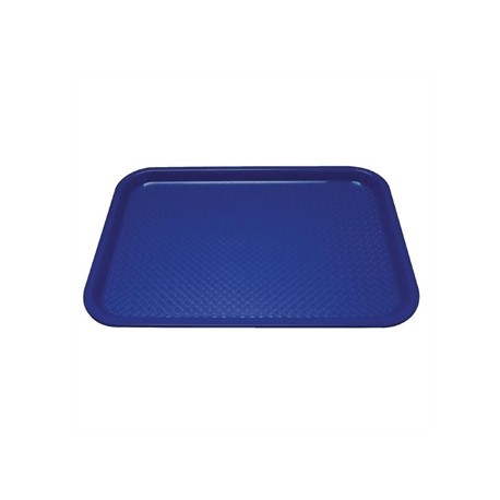 Kristallon Plastic Foodservice Tray Medium in Blue