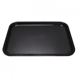 Kristallon Plastic Foodservice Tray Large in Black