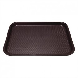 Kristallon Plastic Foodservice Tray Large in Brown