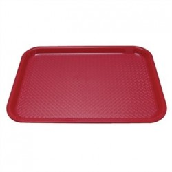 Kristallon Plastic Foodservice Tray Large in Red