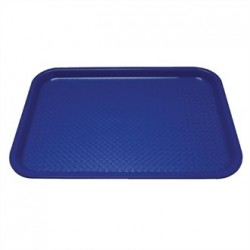 Kristallon Plastic Foodservice Tray 13.75 x 17.75 in Blue