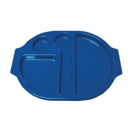 Kristallon Plastic Food Compartment Tray Large Blue