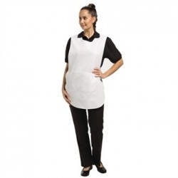 Tabard With Pocket White Large