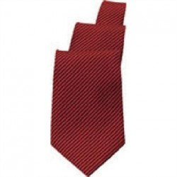 Uniform Works Red and Black Striped Tie