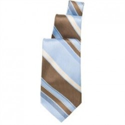 Uniform Works Blue and Brown Striped Tie