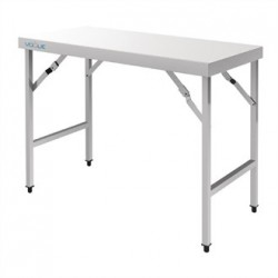 Vogue Stainless Steel Folding Table 1200mm