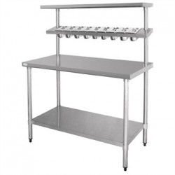 Vogue Stainless Steel Prep Station with Gantry