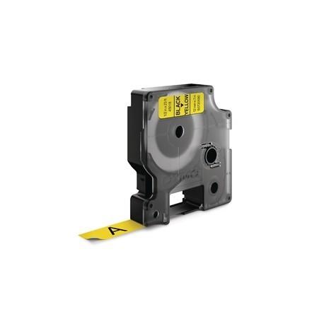 DYMO D1 Tape 12mm Black on Yellow