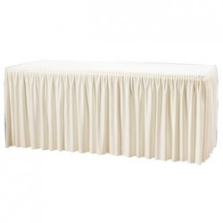 Table Top Cream Cover & Skirting - Plisse Style