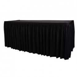 Table Top Black Cover & Skirting - Plisse Style
