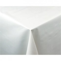 White PVC Table Cloth 54 x 70in