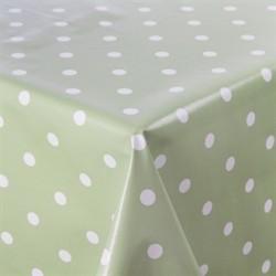 PVC Green Polka Dot Table Cloth L