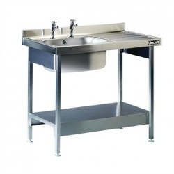 Lincat Stainless Steel Single Sink Unit with Right Hand Drainer