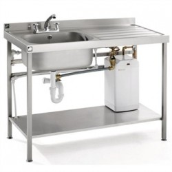 Parry Stainless Steel Fully Assembled Sink 1400mm