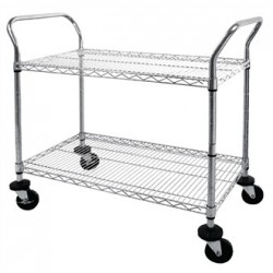 Vogue Chrome 2 Tier Wire Trolley