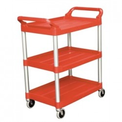 Rubbermaid Compact Utility Trolley Red