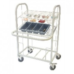 Craven Steel Condiment, Cutlery and Tray Dispense Trolley