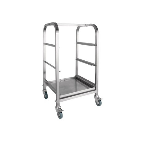 Vogue Glass Racking Trolley 3 Tiers 400mm