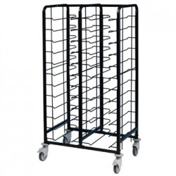 EAIS Powder Coated Enamel Clearing Trolley 24 Shelves