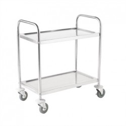 Vogue Stainless Steel 2 Tier Clearing Trolley Small