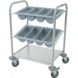 Craven Steel Cutlery Trolley