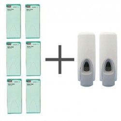 SALE OFFER 6 Rubbermaid Anti Bacterial Spray Soaps and 2 FREE Dispensers