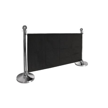 Bolero Black Canvas Barrier