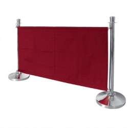 Bolero Red Canvas Barrier