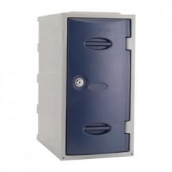 Extreme Plastic Single Door Locker Camlock Blue 600mm