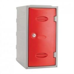 Extreme Plastic Single Door Locker Camlock Red 600mm