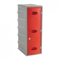 Extreme Plastic Single Door Locker Camlock Red 900mm