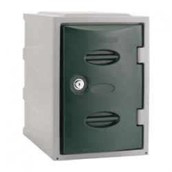 Extreme Plastic Single Door Locker Camlock Green 450mm