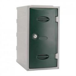 Extreme Plastic Single Door Locker Camlock Green 600mm