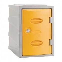Extreme Plastic Single Door Locker Camlock Yellow 450mm