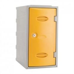 Extreme Plastic Single Door Locker Camlock Yellow 600mm